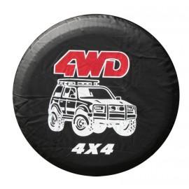 Funda cubre rueda de repuesto 4x4 4WD