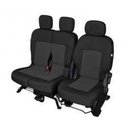 Fundas para asientos delanteros Citroen Berlingo II y Peugeot Partner II de tres plazas