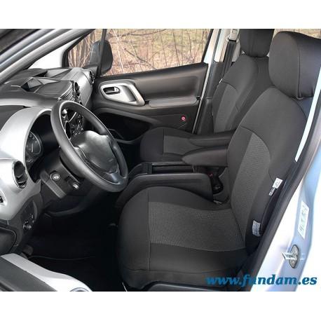 Fundas para asientos delanteros y traseros de Citroen Berlingo II y Peugeot Partner II