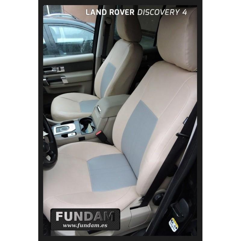 Land Rover Discovery 4-Juego Completo De Lujo Beige Mirada de Cuero Fundas De Asiento De Coche