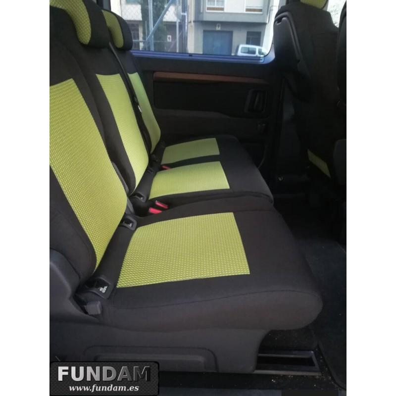 Adecuado para Toyota Proace Fundas de Asiento de Furgoneta S Tela Rossini 154 Desconocido R D