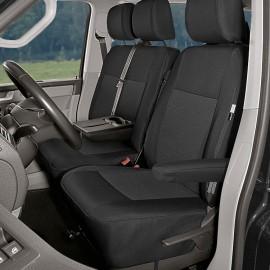 Fundas a medida para 3 asientos delanteros (asiento doble con mesita) - Volkswagen T6