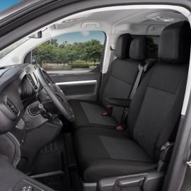 Fundas a medida para 3 asientos delanteros - Citroen Jumpy III, Opel Vivaro C, Peugeot Expert III, Toyota ProAce II