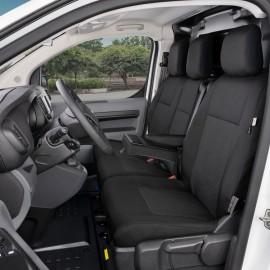 Fundas a medida para asientos delanteros 1+2+Table - Citroen Jumpy III, Opel Vivaro C, Peugeot Expert III, Toyota ProAce II