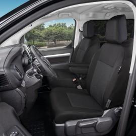 Fundas a medida para asientos delanteros 1+1 - Citroen Jumpy III, Opel Vivaro C, Peugeot Expert III, Toyota ProAce II