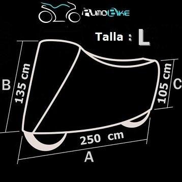 Funda para moto Rumobike dimensiones L