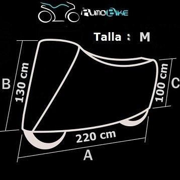 3e463d92a23 Funda Exterior Impermeable Para Moto - NAVY Talla M | FUNDAM